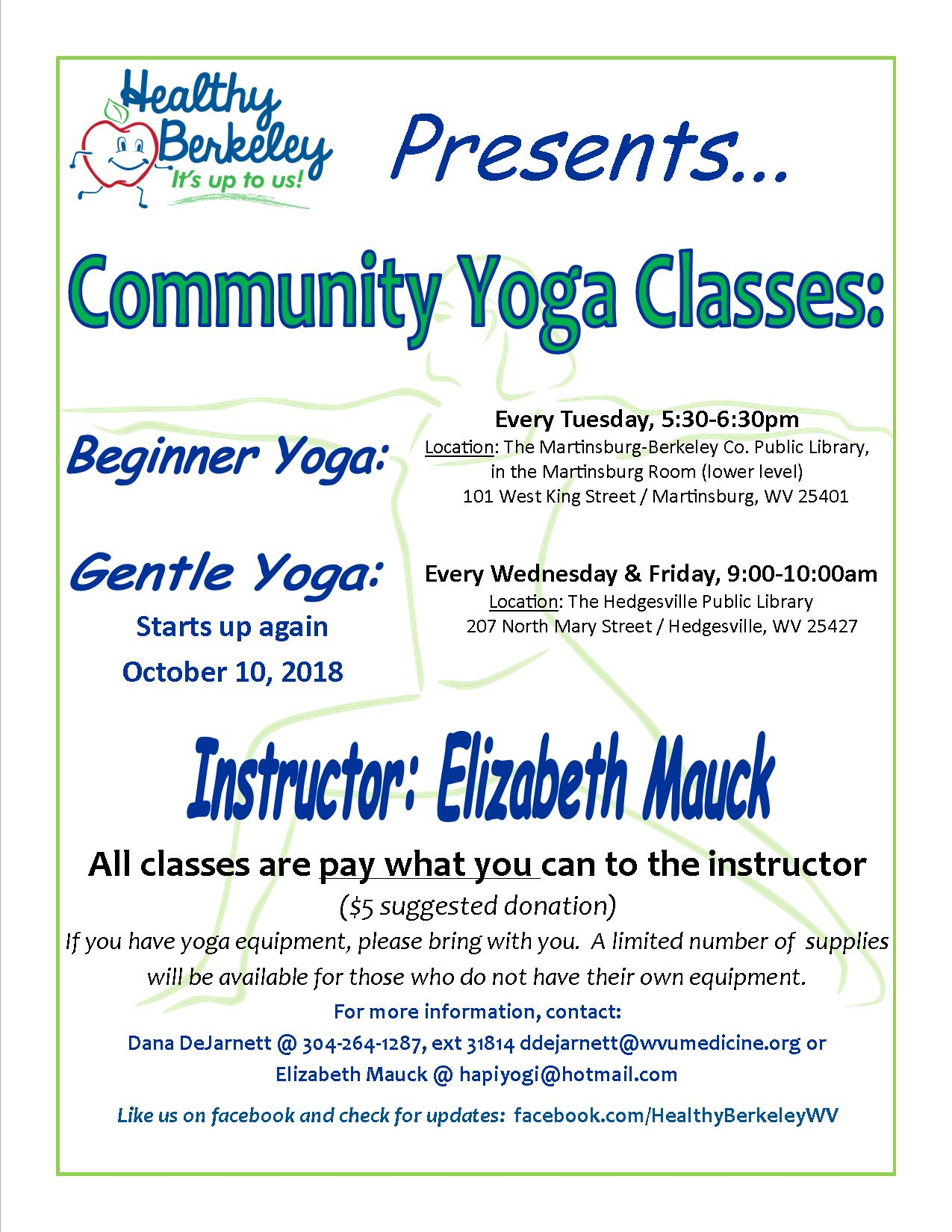Yoga Classes Fllyer