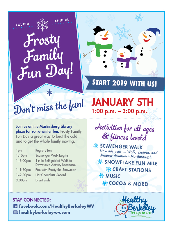 2019 Frosty Family Fun Day Flyer